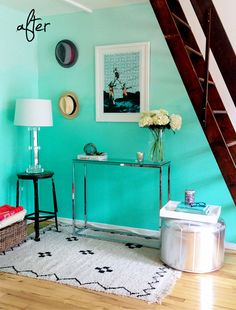 ombre wall. adore this color!