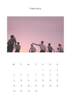Bts Calendar, Print Calendar, 2019 Calendar, Calendar Wallpaper, Bts Wallpaper, Calendar 2019 Design, Lock Screen Backgrounds, Bts Group Photos, Journal Inspiration