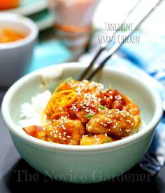 tangerine sesame chicken