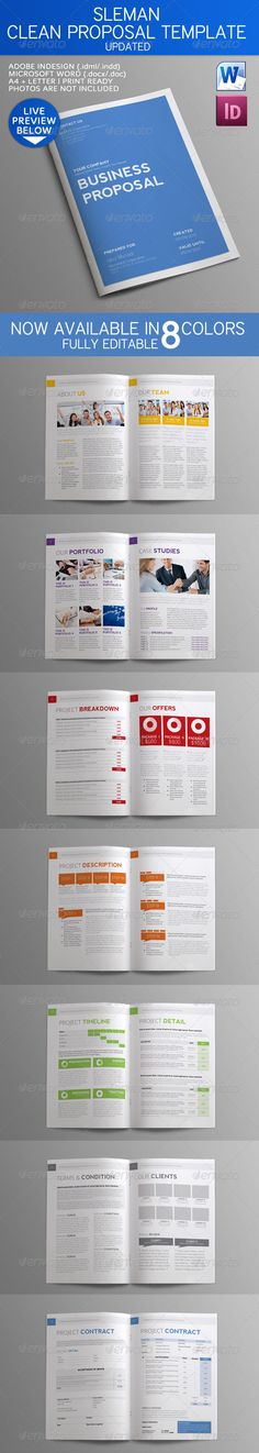 30 best business proposal design images on pinterest page layout buy sleman clean proposal template by binangkit on graphicriver sleman clean proposal vol 1 clean business proposal for multipurpose use quality design accmission