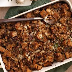 Sourdough, Date, and Turkey Sausage Stuffing #thanksgiving #holidays