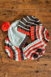 Free on Ravelry: A Family of Stripey Hats pattern by Churchmouse Yarns and Teas