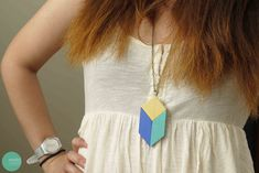 DIY Tangram Necklace @ mintedstrawberry.blogspot.com