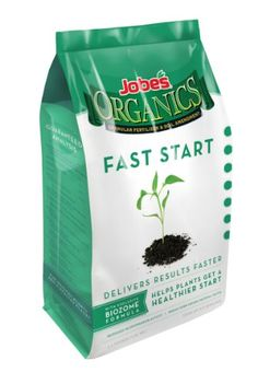 Jobe's 09726 Organic Fast Start Granular Fertilizer  is one of a new and unique family of fast acting 100% organic fertilizer formulas. It  contains a very aggressive microorganism that helps break down beneficial complex materials and minerals into basic nutrients that plants can readily absorb.
