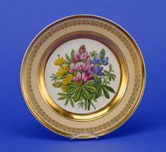 KPM (Berlin,Germany) — Plate with a lupine flowers  decor, 1844-1847 (1088×1000)