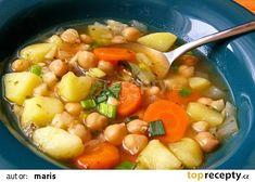 Zeleninová polévka s cizrnou recept - TopRecepty.cz Chana Masala, Fruit Salad, Cheeseburger Chowder, Quinoa, Cantaloupe, Cooking, Ethnic Recipes, Food, Gabriel