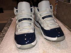 Nike Air Jordan 11 XI Retro Size 1 Youth Kids Navy White (Very Good  Condition 1715e193c