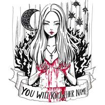 Carrie from Stephen King Horror Movie Fine Art Giclée Print of one of my inktobers from October 2016 Limited Edition Prints Archival inks printed on 260gsm premium Luster Paper Hand signed and numbered by artist illustration art tattoo design quote
