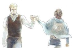 Erwin Smith and Hanji Zoe | I feel like this photo is representing Hanji becoming the next commander.