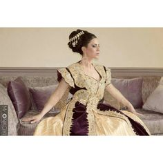 Algerian gold and purple #Qatifa dress.