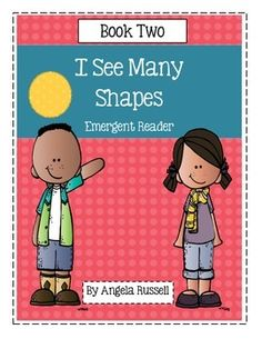 This is a cute 8 page emergent reader that creates a bird out of shapes. It is a cute book to add to a Bird theme, Math center, or a Shape Unit. I have added a Bird craft that looks like the one in the book but a larger size.I  See Many Shapes ~ Book One is a Bear.