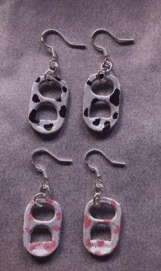 Weird Jewelry, Funky Jewelry, Cute Jewelry, Beaded Jewelry, Jewelry Accessories, Jewellery, Soda Tab Crafts, Monster Crafts, Grunge Jewelry