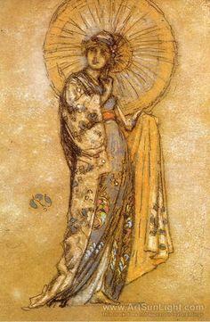 James Abbott McNeill Whistler (1834-1903)The Japanese Dress 1888-1890
