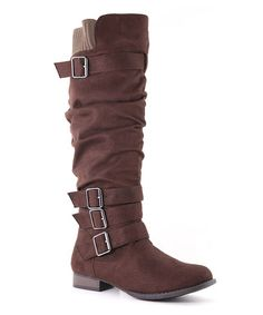 Another great find on #zulily! Brown Slouch Juno Boot #zulilyfinds