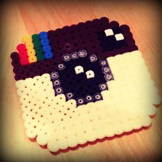 #Hamabeads #instagram http://www.mummy-tips.com/2012/12/how-to-make-hama-beads-pac-man-ghost.html