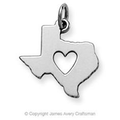 "The Deep in the Heart of Texas Charm is 13/16"" long. This piece is laser engravable only.    Texas comes from the Indian word Tejas, meaning friends or allies. The state motto is: Friendship and Texas is often called The Lone Star State.  $39.00"