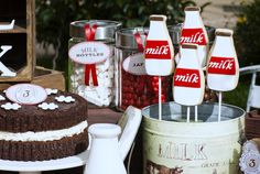 Vintage Milk & Cookies Guest Dessert Feature | Amy Atlas Events