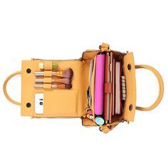 Brenice Women Solid Cosmetic Handbag Capacity Bag Multifunction Crossbody  Bag ec6d5dc5f50fc