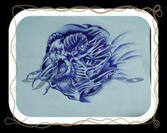 Demonio...boceto para tattoo
