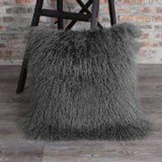 47a21101e907cc Grey Mongolian Fur Pillow Cover Cushion Covers  Home Decor Fur Cushion Cover