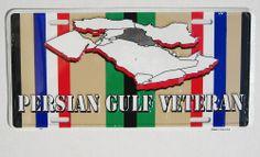Persian Gulf War Veteran LICENSE PLATE metal sign gift