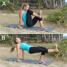 10 Crunch-Free Moves for Killer Abs. Cross Knee Strike, Side Abs Leg Lift, Bob and Weave Circle, Abs Jabs, Front Knee Strike, Front Kick Tabletop, Cross Punch Roll Up, Back Kick Plank, Side Kick Plank, Crescent Circle