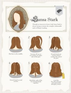 Aww yiss, Game of Thrones hair styling graphics.