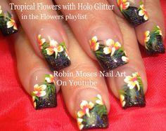 Nail Art Tutorial   DIY Tropical Flower Nails   Summer Hibiscus Nail Design