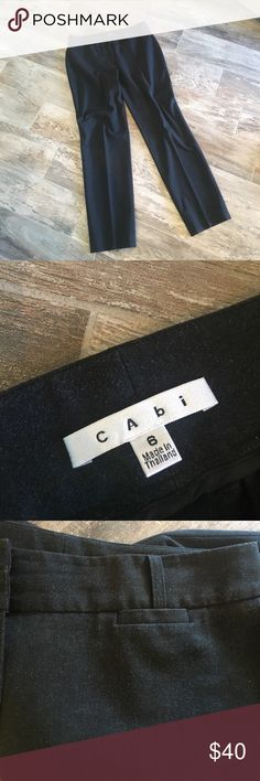 Cabi pants Charcoal Heather cigarette pants!  Worn to work a couple of times.  Had a great cabi party turn out and spent $1000 worth of cabi clothing. 😬 very durable clothing and perfect office wear with great comfort!  See cabi blouse listed for a nice matching wear CAbi Pants