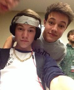 Taylor Caniff and Cameron Dallas