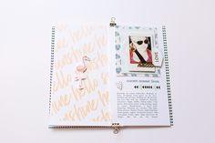 #LittleSummerJoy 2016 | A DIY Mini Album by Mandy Elliott, Turquoise Avenue Celebrating Summer (via LittlePaperProjects.com) featuring designs by One Little Bird and Turquoise Avenue.