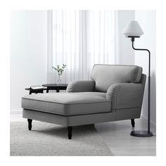 STOCKSUND Chaise - Ljungen gray, black - IKEA
