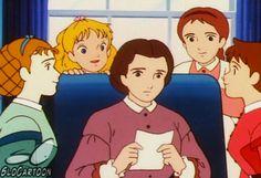 cartoons gif Ai no wakakusa monogatari - 80 Cartoons, Famous Cartoons, Classic Cartoons, Cartoon Gifs, Cartoon Movies, Cartoon Characters, Old Anime, Manga Anime, Samurai