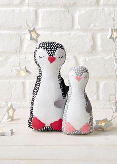 DIY penguin softie toy pattern