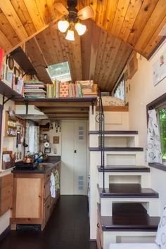 Woman Designs-Builds her own Pocket Mansion Tiny House 0013