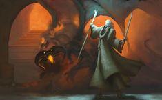 Balrog - The Lord of the Rings - Dennis Bell Gandalf Balrog, Balrog Of Morgoth, Legolas, Tolkien Hobbit, Tolkien Books, Lotr, The Hobbit, Alan Lee, Character Template