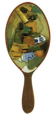 Untitled (Assemblage on Hand Mirror), Kurt Schwitters, 1920-1922