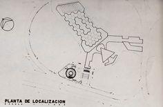 Planta de localizacion del proyecto perspectiva de un museo en Tijuana, Baja California, México 1962   Arq. Pedro Ramírez Vázquez  y Rafael Mijares -  Site plan for a proposed museum in Tijuana, BC, Mexico 1962