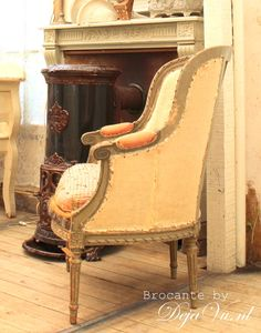 French pair of chairs. Bergeres