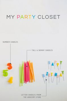Guide to Party Supplies. Keep these party supplies on hand for easy INSTANT PARTIES
