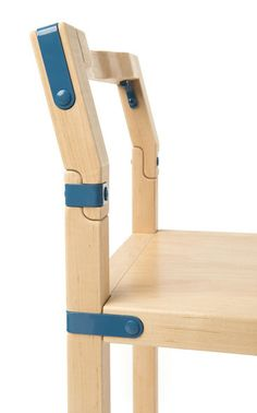 Everett Chair detail - Frame + Panel. Solid white maple with powder coated hardware. #design #furniture #joints #chair