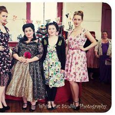 Models wearing Devilish Designs By Gina ,including alternative leopard print wedding dress .