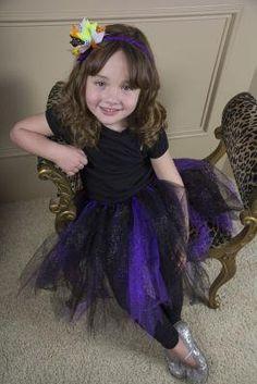 Black and Purple Glitter Tulle Halloween Tutu