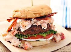 Surf N' Turf Burger (Grilled Burger with Lobster and Bacon)About the author: J. Kenji Lopez-Alt is the Chief Creative Officer of Serious Eats where he likes to explore the science of home cooking in his weekly column The Food Lab. You can follow him at @Food Lab on Twitter, or at The Food Lab on Facebook.  Every recipe we publish is tested, tasted, and Serious Eats-approved by our staff. Never miss a recipe again by following @SeriousRecipes on Twitter!