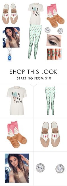 """ice cream time today"" by fashionablekittygirl ❤ liked on Polyvore featuring River Island, Socksmith Design and Mehron"