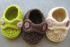 Ravelry: Boy Striders 4 Sizes Crochet Baby Booties (pdf pattern for sale) pattern by CrochetDreamz
