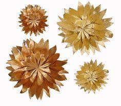 Crepe Paper Flowers— Metallic