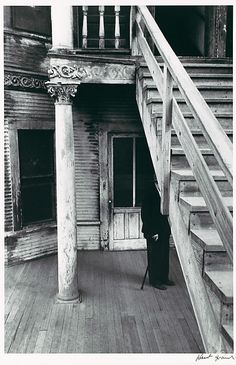 Robert Frank, Rooming House, Bunker Hill, Los Angeles, 1955-1956, printed ca. 1977, gelatin silver print. © Met / Purchase, Anonymous Gifts, 1986.