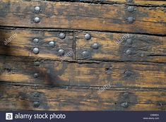 Hull Boarding Of An Old Wooden Steam Ship Boards Treated With