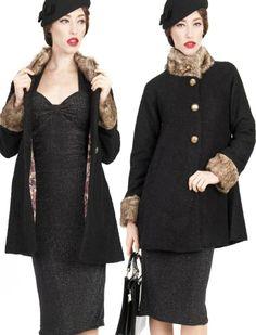 Mariella Coat - Rockabilly Clothing - Online Shop für Rockabillies und Rockabellas